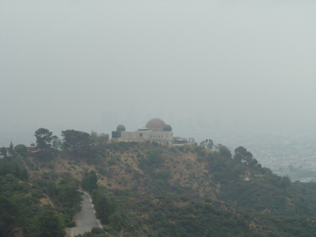 griffith observatory from mt. hollywood trail